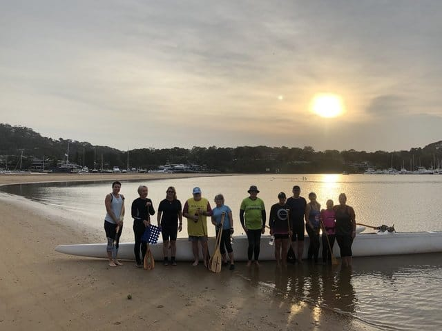 Paddling session on Pittwater 💕 Saturday 21 September 2019 -